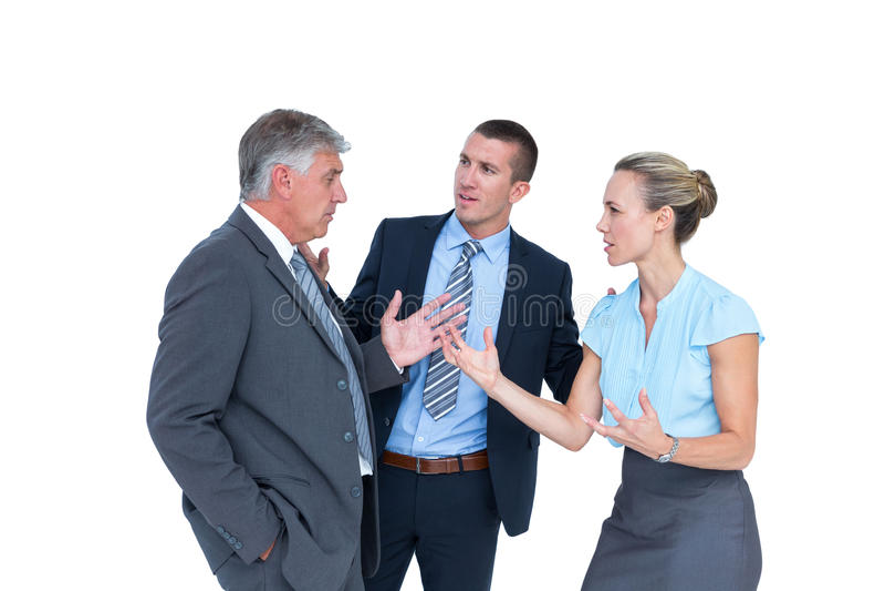 Geschäftsleute, die einen Widerspruch haben lizenzfreie stockbilder