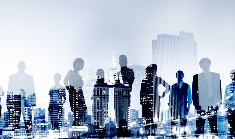 Geschäftsleute, die Konferenz-Konzept treffen lizenzfreie stockfotos