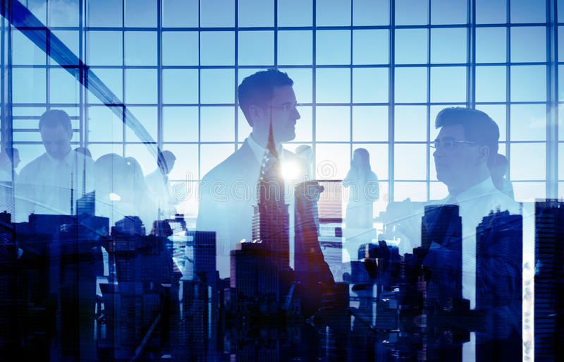 Geschäftsleute, die Konferenz-Konzepte treffen lizenzfreies stockfoto