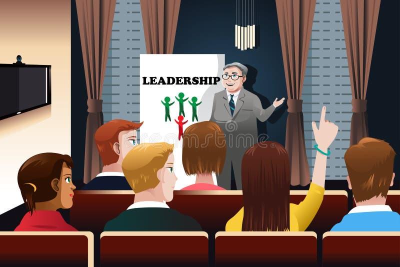 Geschäftsleute in einem Seminar lizenzfreie abbildung