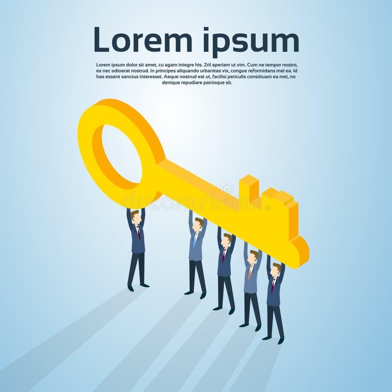 Geschäftsleute Gruppen-Griff-Schlüssel- stock abbildung