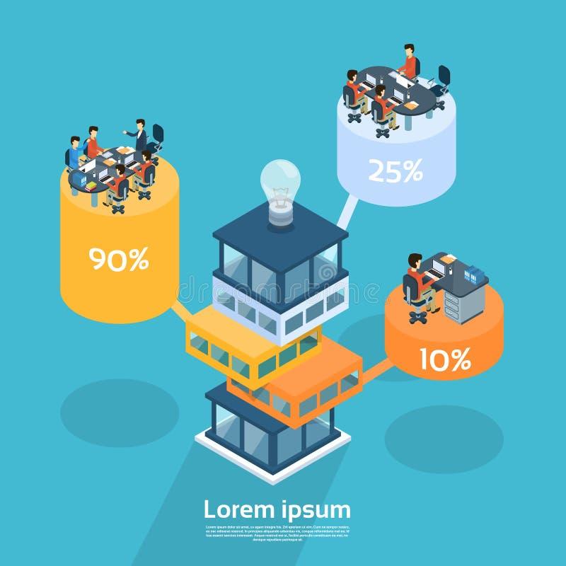 Geschäftsleute gruppieren Arbeitsbüro-Zylinder stock abbildung
