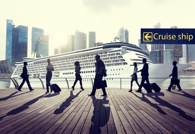Geschäftsleute Reise-Kreuzschiff-Reise-Reise-Konzept- stockfotografie