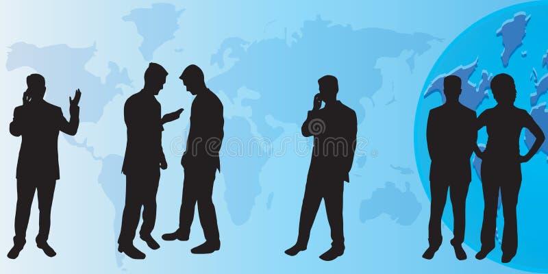 Geschäftsleute Schattenbilder stock abbildung