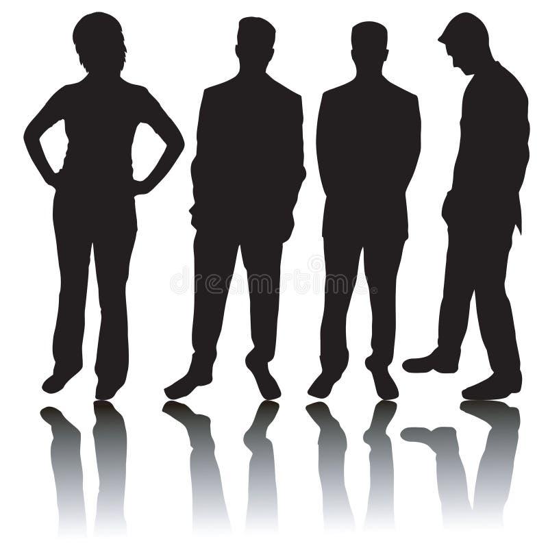 Geschäftsleute Schattenbilder lizenzfreie abbildung