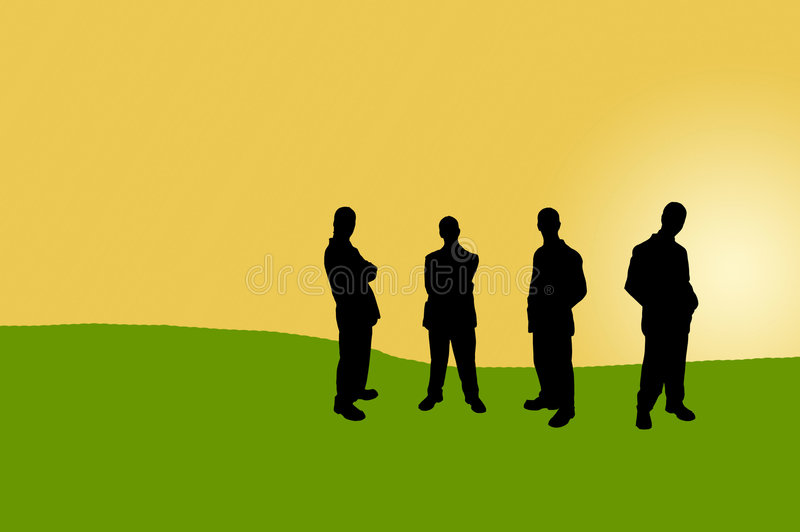 Geschäftsleute shadows-12 lizenzfreie abbildung