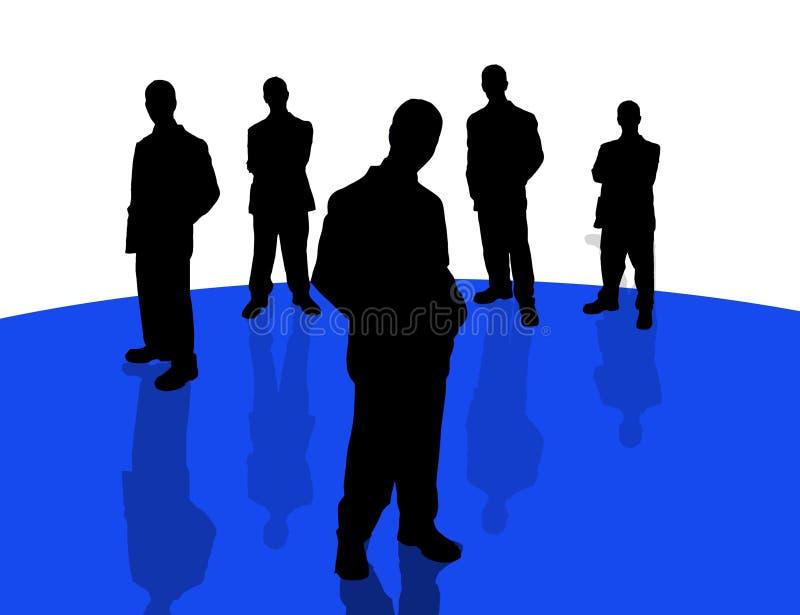 Geschäftsleute shadows-4 lizenzfreie abbildung
