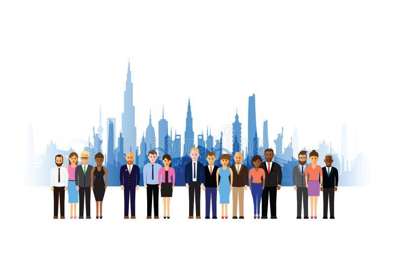 Geschäftsleute Stadtbildhintergrund stock abbildung