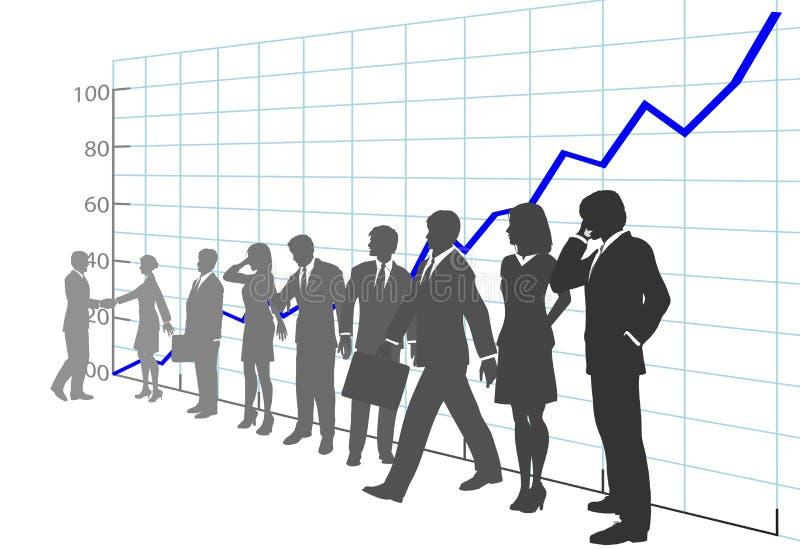 Geschäftsleute Team-Profit-Wachstum-Diagramm- lizenzfreie abbildung