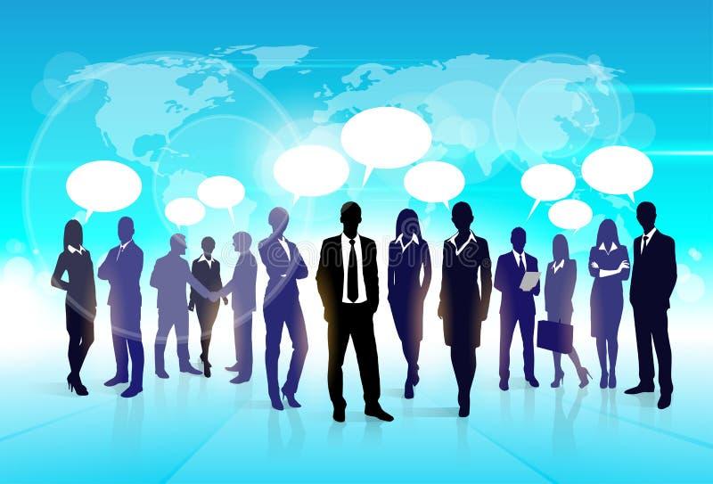 Geschäftsleute Team Speech Communication Bubble stock abbildung