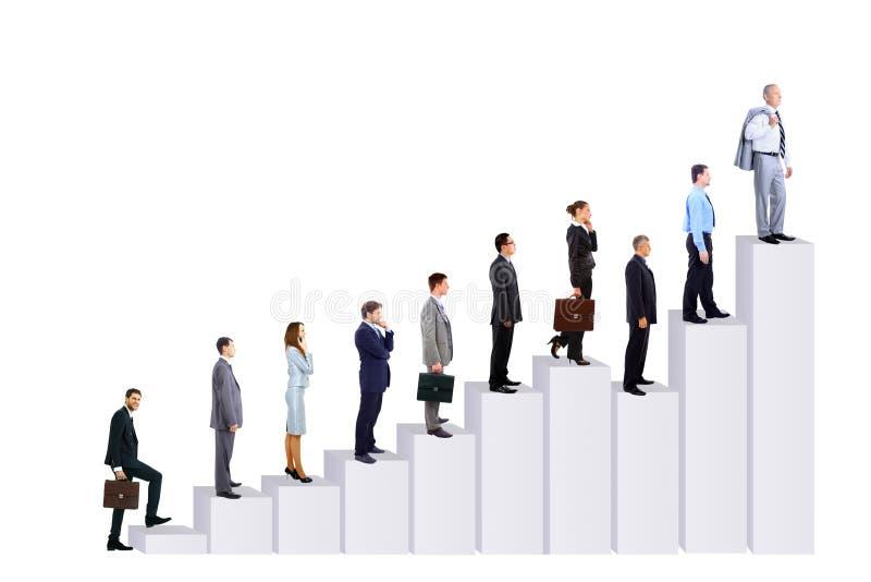 Geschäftsleute Team und Diagramm stockbild