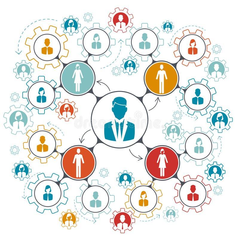 Geschäftsleute Teamarbeitsstrukturvektor-Illustration vektor abbildung