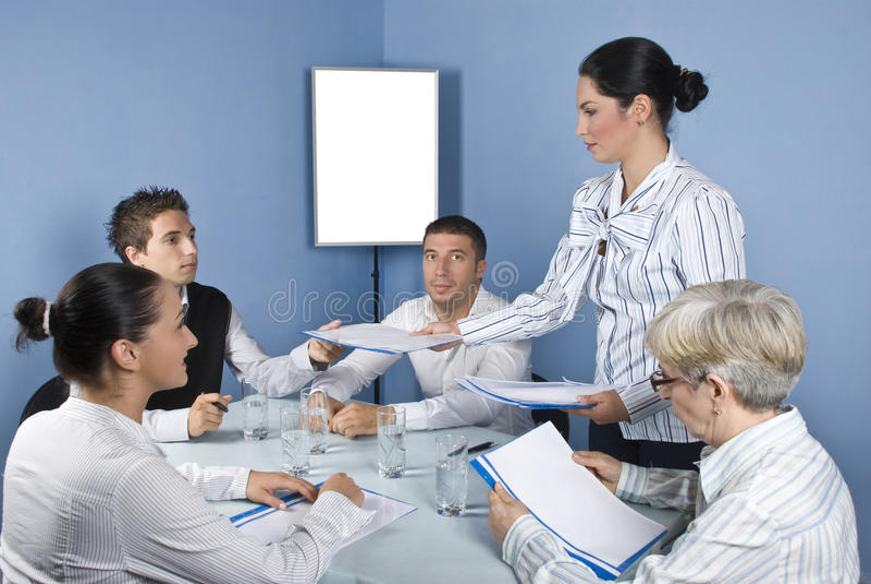 Geschäftsleute Treffen stockfotografie