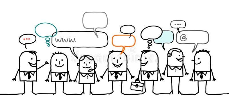 Geschäftsleute u. Sozialnetz lizenzfreie abbildung