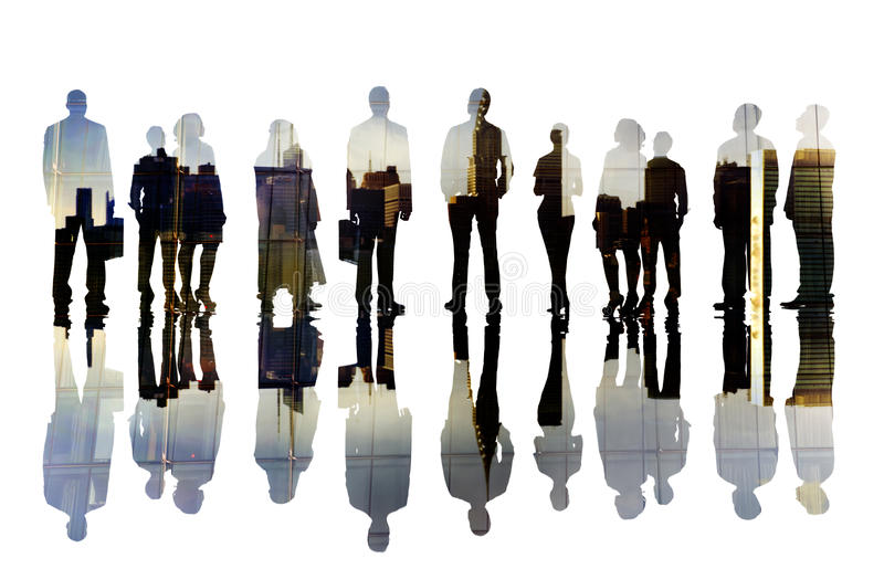 Geschäftsleute Visions-Aspirations-Ziel-Unternehmensstadt-Konzept- stockfotos