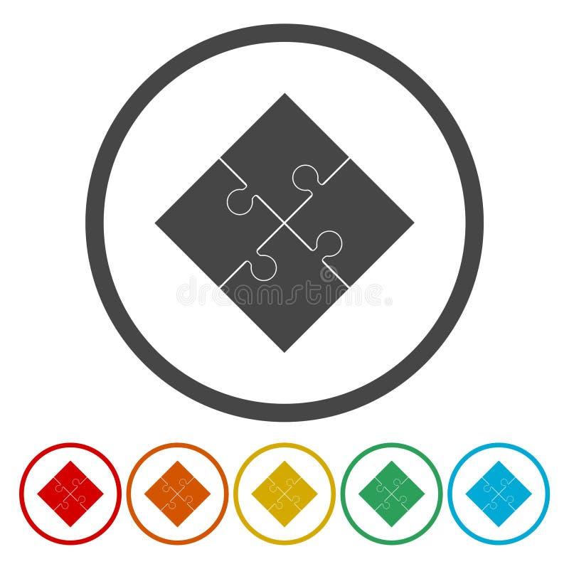 Geschäftslogopuzzlespiel-Vektorzeichen stock abbildung