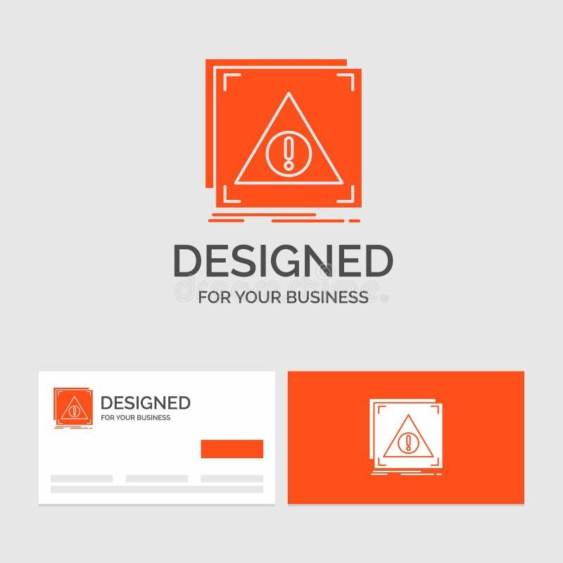 Geschäftslogoschablone für Fehler, Anwendung, verweigert, Server, Alarm Orange Visitenkarten mit Markenlogoschablone vektor abbildung
