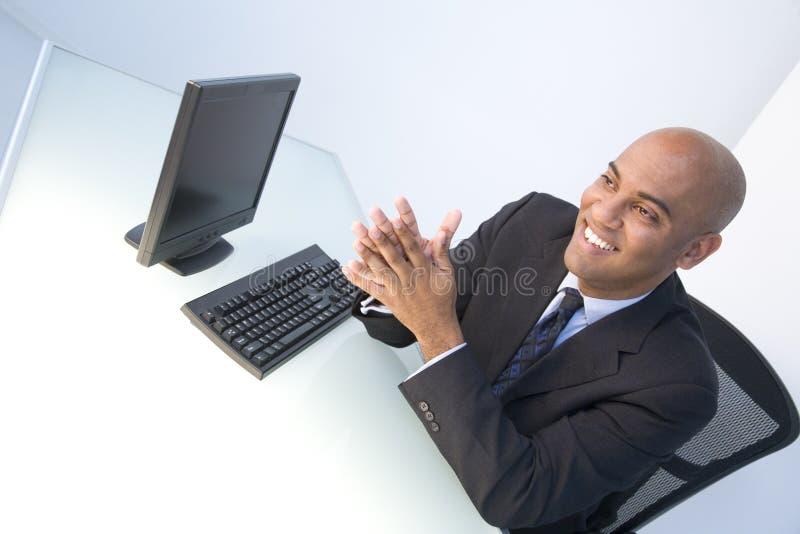 Geschäftsmänner betriebsbereit zur Arbeit lizenzfreie stockbilder