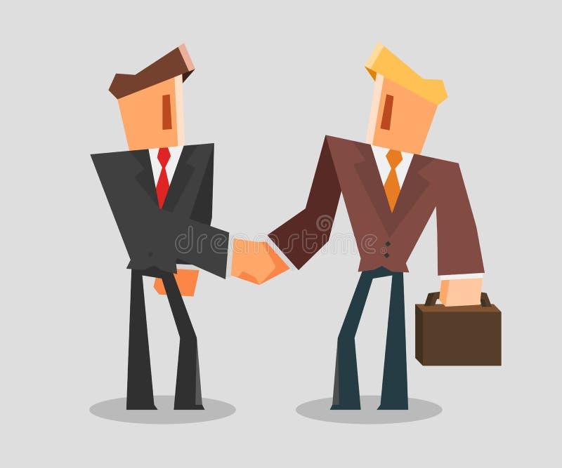 Geschäftsmänner, die Hände rütteln Erfolgreiches Abkommen-Konzept lizenzfreie abbildung