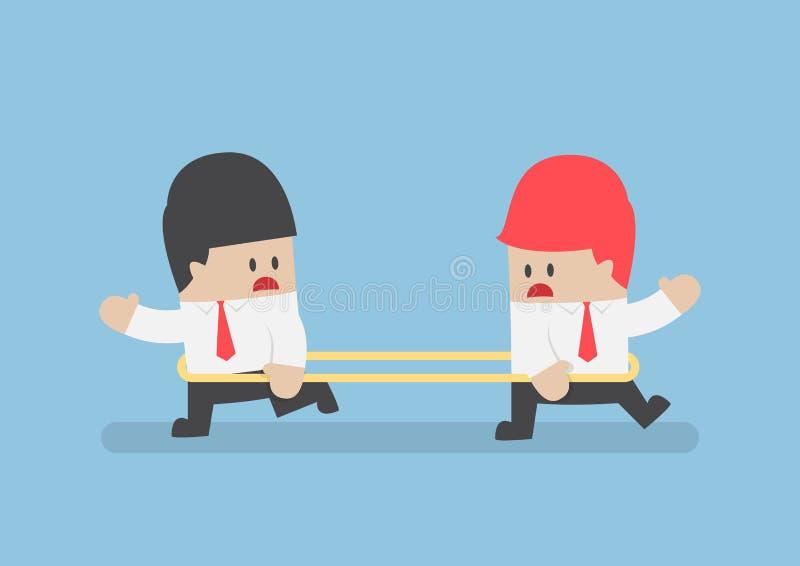 Geschäftsmänner gehen zur entgegengesetzten Richtung von jedem othe stock abbildung