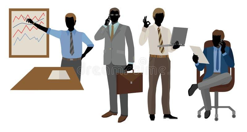 Geschäftsmänner im Büro lizenzfreie abbildung