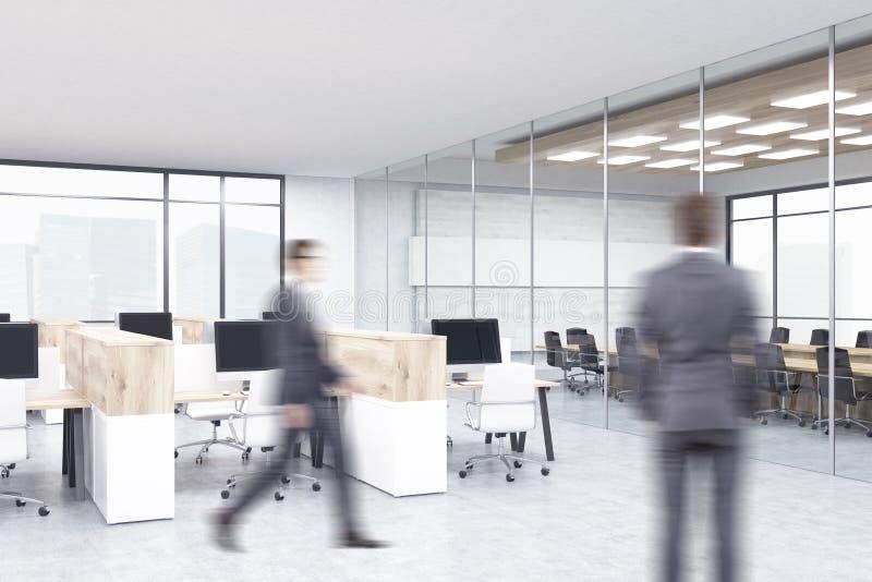 Geschäftsmänner im Büroinnenraum stockfotos
