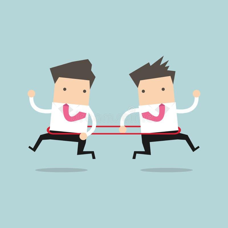 Geschäftsmänner laufen zur entgegengesetzten Richtung von einander Vektor lizenzfreie abbildung
