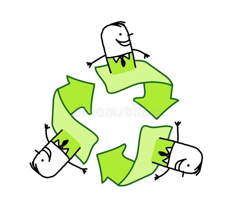 Geschäftsmänner und Ökologie stock abbildung