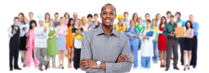 Geschäftsmänner und Arbeitskraftgruppe Teamfunktion lizenzfreies stockfoto