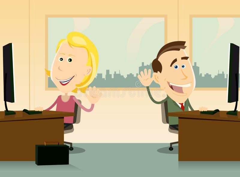Geschäftsmänner und Frauen-Büro-Teamwork vektor abbildung