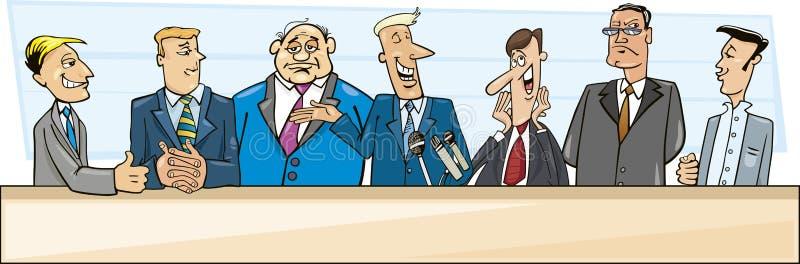 Geschäftsmänner und Politiker lizenzfreie abbildung
