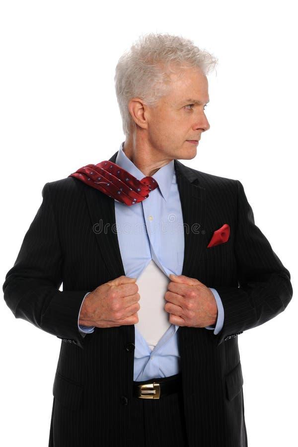 Geschäftsmann-Öffnungs-Hemd stockbilder