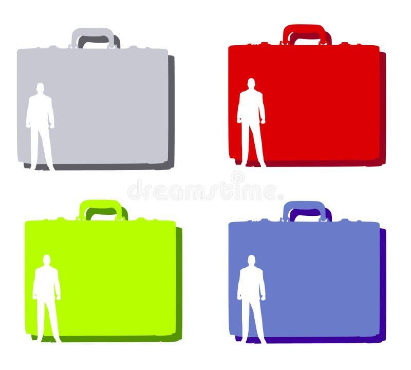 Geschäftsmann-Aktenkoffer-Hintergründe lizenzfreie abbildung