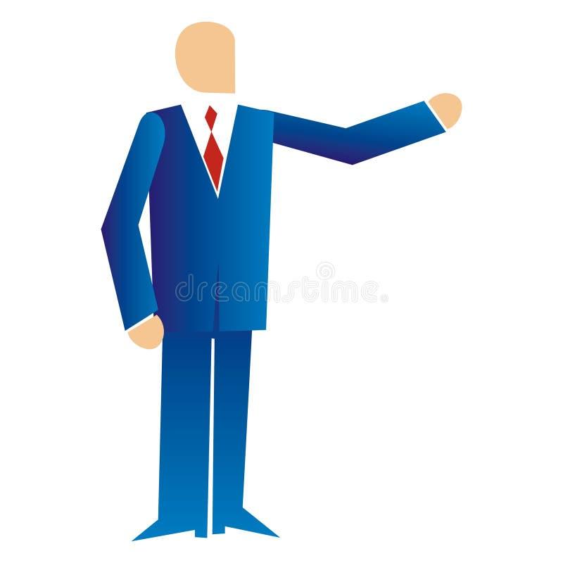 Geschäftsmann auf einer Darstellung lizenzfreie abbildung
