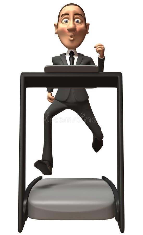 Geschäftsmann auf einer Tretmühle vektor abbildung