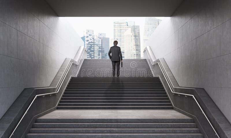 Geschäftsmann auf Treppe vektor abbildung