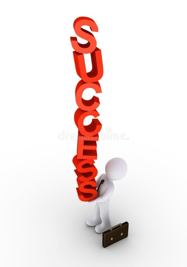 Geschäftsmann balanciert den Erfolg vektor abbildung