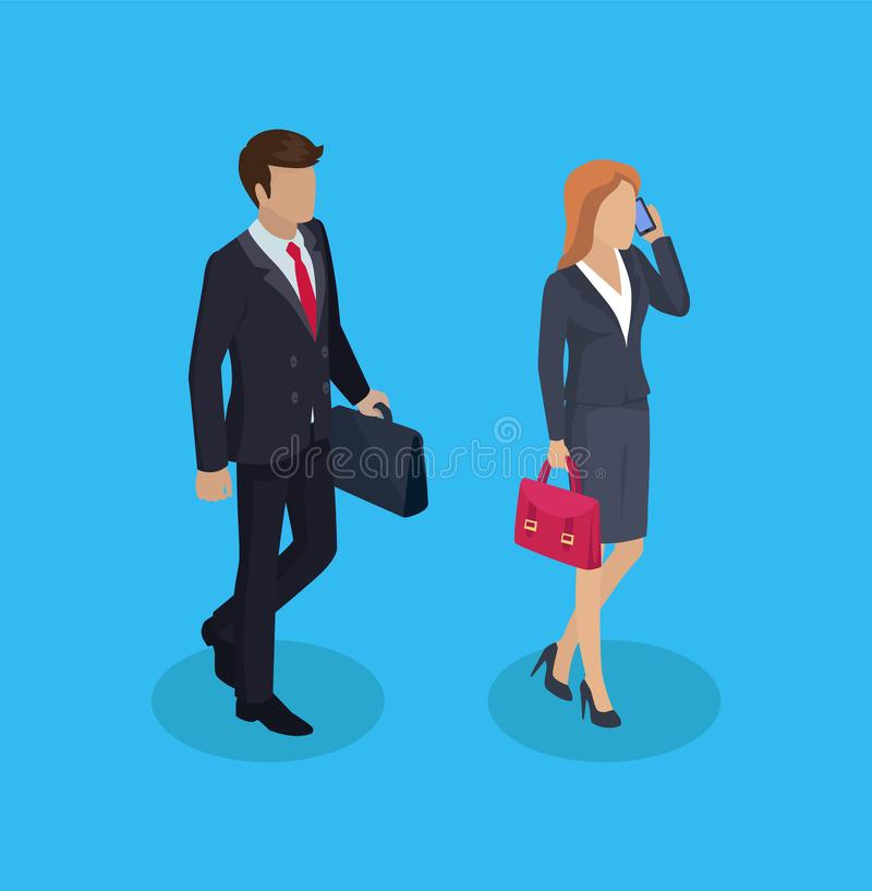 Geschäftsmann-Berater People Vector Illustration lizenzfreie abbildung