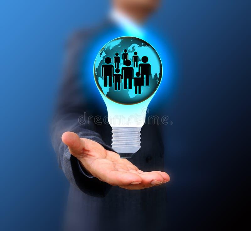 Geschäftsmann Choosing die rechte Person stockfoto