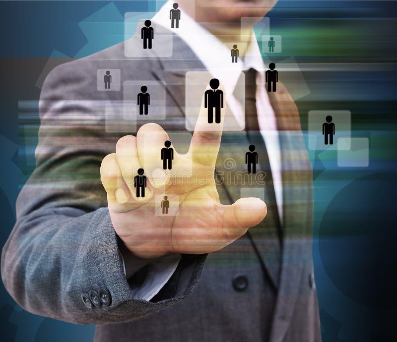 Geschäftsmann-Choosing-Person stockbild