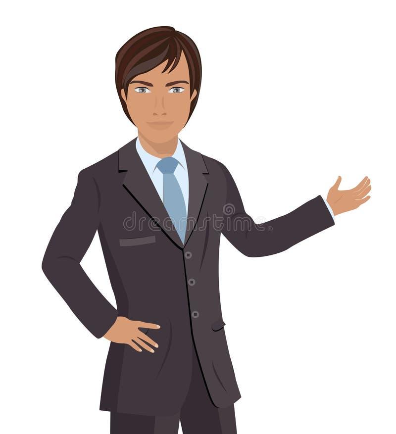 Geschäftsmann-Darstellen vektor abbildung