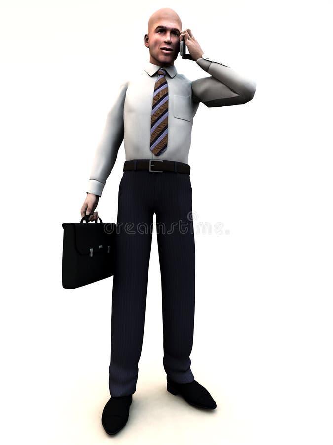 Geschäftsmann, der 11 steht stock abbildung