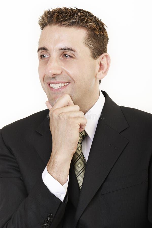 Geschäftsmann, der 2 denkt lizenzfreies stockbild