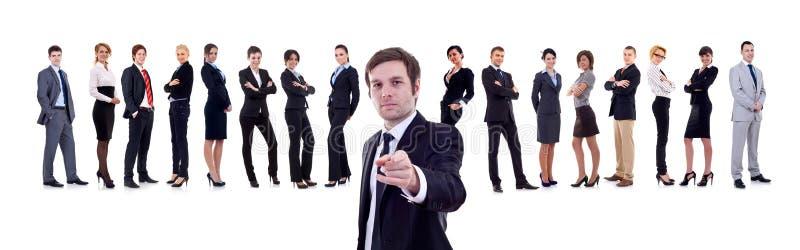 Geschäftsmann, der auf Sie zeigt lizenzfreie stockbilder