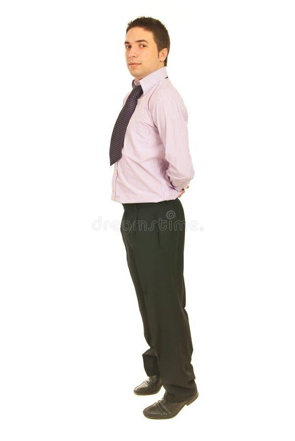 Geschäftsmann, Der Auf Zehen Steht Lizenzfreies Stockfoto
