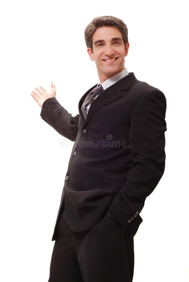 Geschäftsmann, der Darstellung tut stockfotos