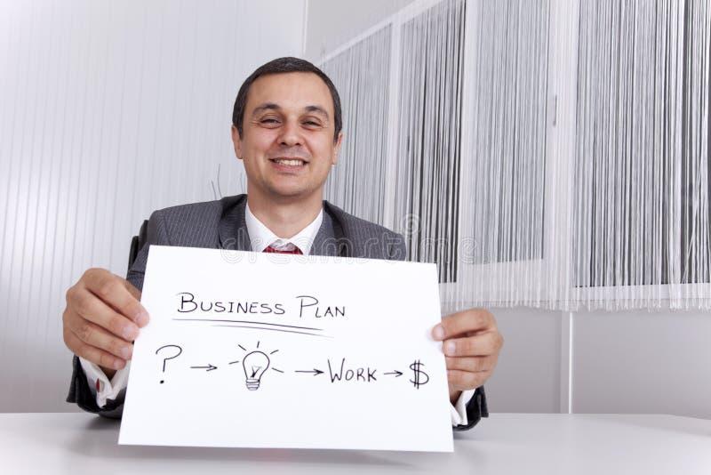 Geschäftsmann, der den Pfad für Erfolg zeigt lizenzfreies stockbild