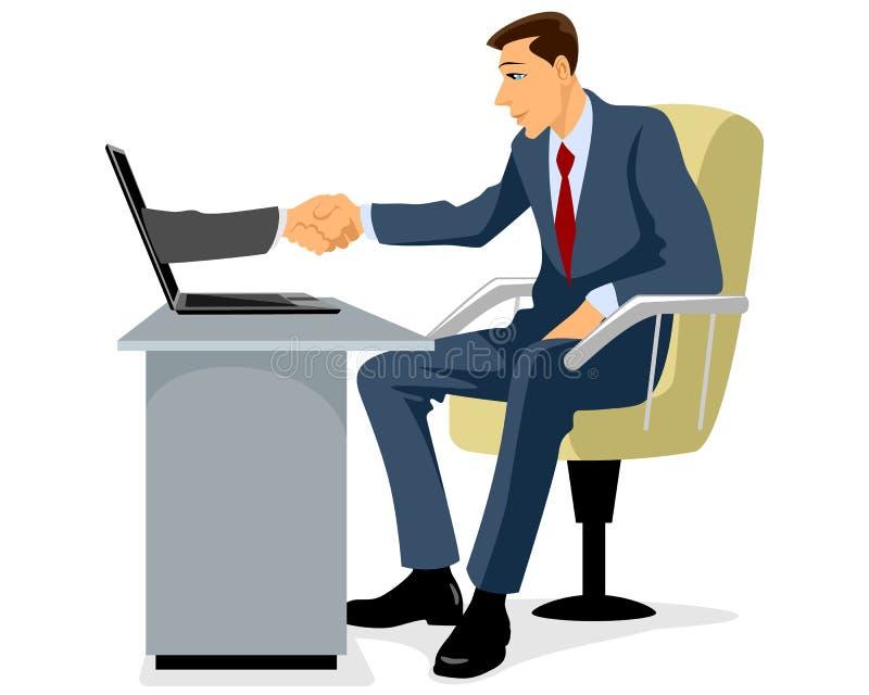 Geschäftsmann, der Hand rüttelt lizenzfreie abbildung