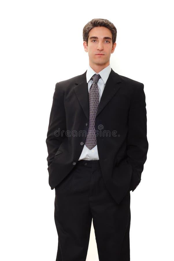 Geschäftsmann in der Klage lizenzfreie stockfotos