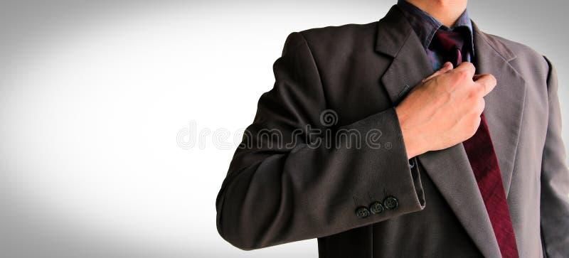 Geschäftsmann in der Klage bereit zum Kampf lizenzfreie stockfotografie